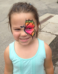Jocie face paint photo